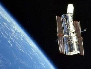 Telescópio Hubble em órbita (Foto: Arquivo do Blog)
