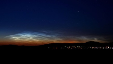 Nuvem noctilucentes (Foto: NASA)
