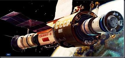 Concepção artística da Salyut 6 (Foto via SpaceFacts.de)