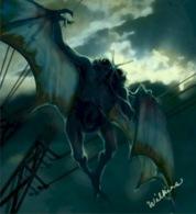 Concepção artística do Homem-Mariposa (Foto via ImageShack)