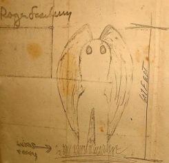 Desenho feito por uma das primeiras testemunhas (Foto: Mothmen.us)