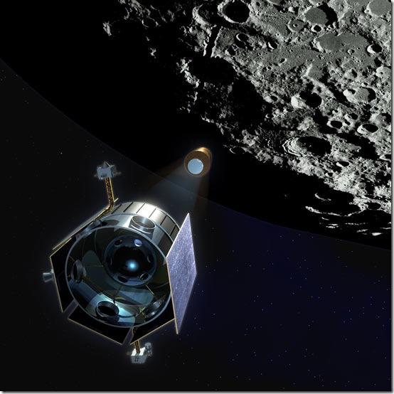 Concepção artística da LCROSS logo após a separação do foguete (Foto: NASA)