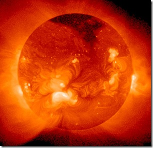 Sol visto em raios-X (Foto via arquivo do editor)
