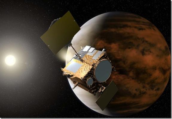Ilustração de sonda próxima de Vênus (Foto: JAXA)