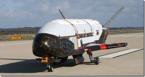 X-37B após o pouso (Foto: USAF)