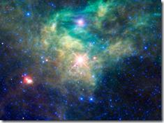 Imagem infravermelha da região onde Kathryn descobriu a supernova (Foto: AFP)