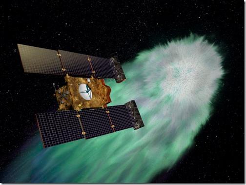 Ilustração da Stardust em encontro com o cometa Wild 2, em 2004 (Foto via R7)