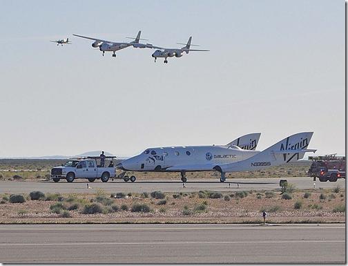 Nave após voo de teste na California (Foto: Bill Deaver/Deaver-Wiggins and Associates)