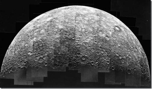 Mosaico de Mercúrio feito pela sonda Mariner 10 (Foto: arquivo)