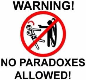 """""""Aviso! Proibido paradoxos!"""""""