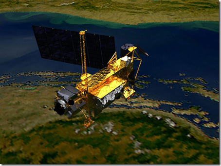 Concepção artística do UARS (Foto: EFE)