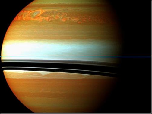 Tempestade captada pela Cassini em Saturno (Foto: NASA)
