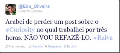 (Foto: Twitter.com/Edu_Oliveira / reprodução)