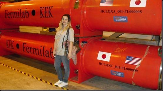 Camila em visita ao CERN