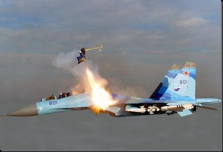 """Cena de """"Ataque Aéreo"""" (Foto: reprodução)"""