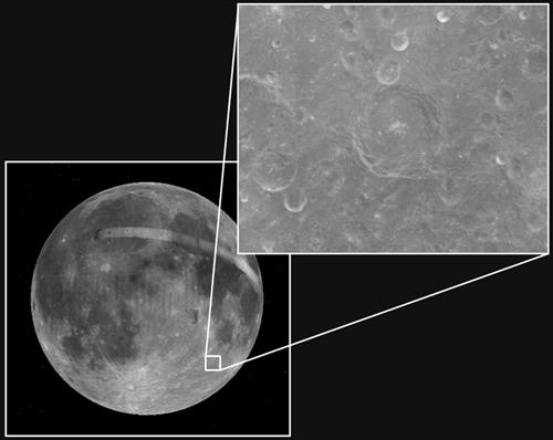 Cratera Piccolomini (Arte: Edu Oliveira / Imagens: Google)
