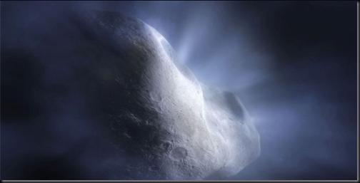 Concepção artística do núcleo de um cometa