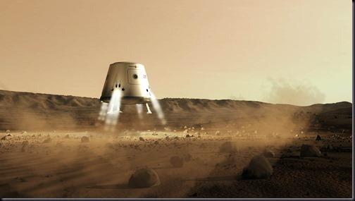 A Mars One planeja lançar uma nave com mais de 2 toneladas e alimentos e outros suprimentos em janeiro de 2016; o pouso será em outubro (Foto: Mars One / Bryan Versteeg)
