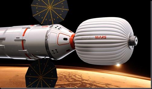 Ilustração da nave da Inspiration Mars Foundation (Foto: Inspiration Mars Foundation)