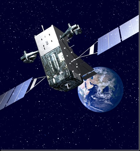 Ilustração de satélite geossíncrono de alerta de mísseis do Sistema Infravermelho Espacial, contruídos pela Lockheed Martin (Foto: Lockheed Martin)