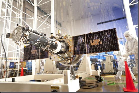 IRIS em sala limpa da Lockheed Martin (Foto: Lockheed Martin)