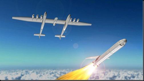 Foguete será solto de avião (Foto: Stratolaunch)