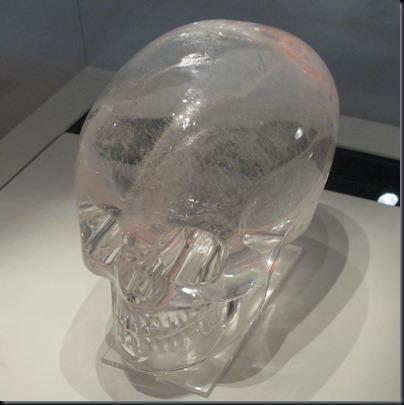 Caveira de cristal do British Museum (Foto: Wikimedia)