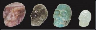 Caveiras de diferentes minerais (Foto: arquivo UFO)