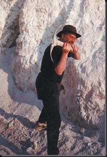 Shapiro em mina de cristais em Minas Gerais (Foto: VJ Enterprises)