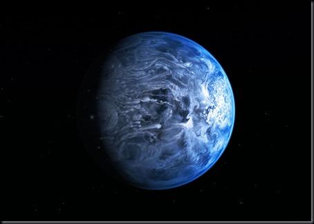 Ilustração do exoplaneta HD 189733b (Foto: NASA, ESA, M. Kornmesser)