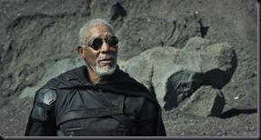 Morgan Freeman em Oblivion (Foto: divulgação)