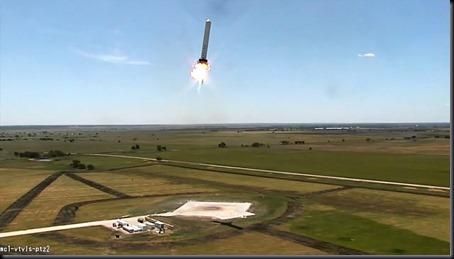 Teste do Gafanhoto realizado nesta terça (13/08/2013) (Foto: SpaceX)
