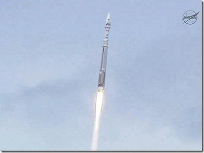 Lançamento da MAVEN (Foto: NASA TV)