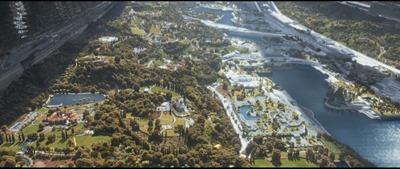 Ambiente de Elysium, compos de imagens de Beverly Hills e Holywood