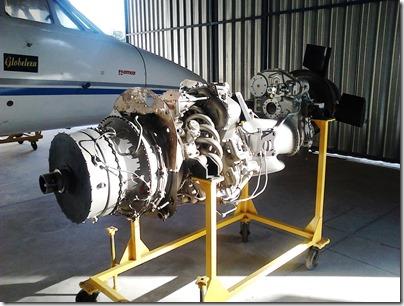 Mockup de motor aeronáutico na EMCA (Foto: Eduardo Oliveira)