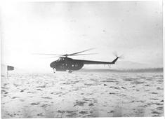 Helicóptero militar usado na operação de busca