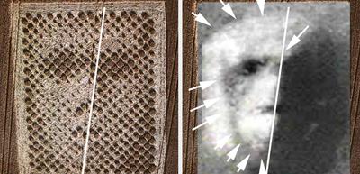 Richard Hoagland aponta para semelhanças entre a face de Chilbolton e a de Cydonia