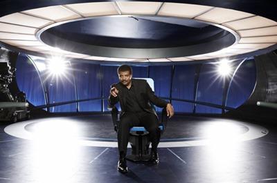 Neil Tyson no set da Nave da Imaginação