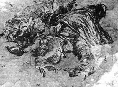 Os corpos de Krivonishenko e Doroshenko