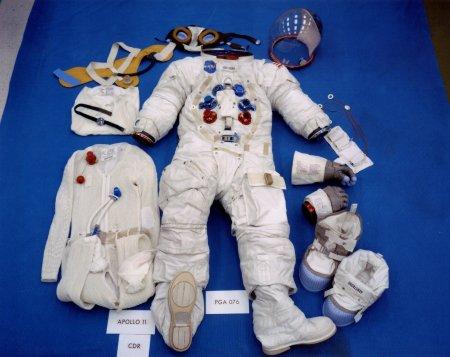 Traje usado por Neil Armstrong na Apollo 11 (Foto: NASA)