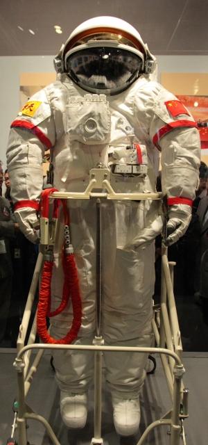 Traje Feitian no museu espacial de Hokg Kong (Foto: Johnson Lau)