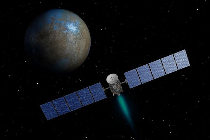 Dawn mapeia crateras de Ceres onde água pode se acumular